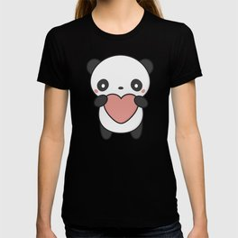 Kawaii Cute Panda With A Heart T-shirt
