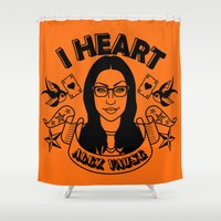 oitnb Shower Curtains featuring I heart Alex Vause Orange - OITNB inspired by Vague