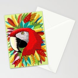 Macaw Parrot Paper Craft Digital Art Stationery Cards