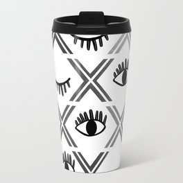 Original Black and White Eyes Design Travel Mug