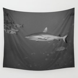 Battle-scarred shark Wall Tapestry