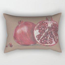 Ode to a Pomegranate Rectangular Pillow