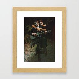 Dia de los Muertos Romance Framed Art Print