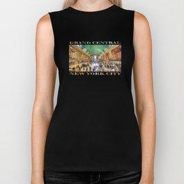 Grand Central Rush (souvenir poster on white) Biker Tank