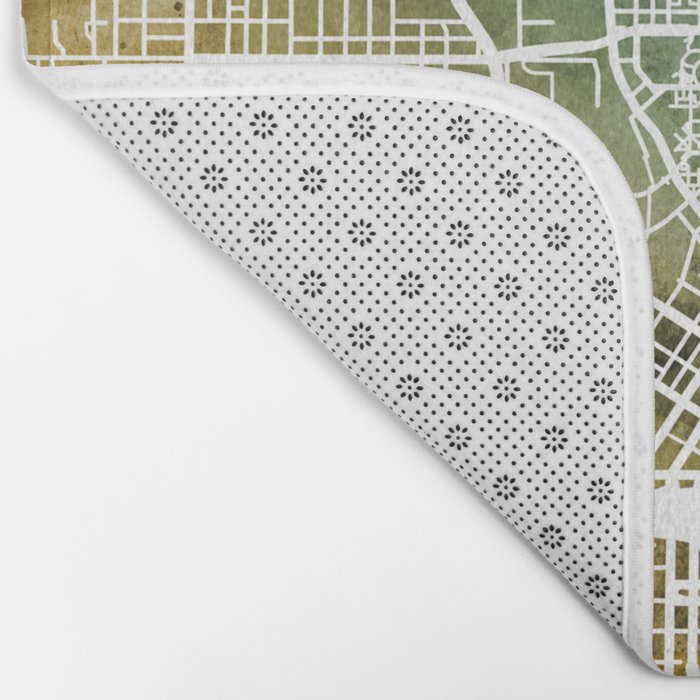 Atlanta Georgia City Map Bath Mat