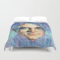 the cure Duvet Covers featuring Pastel Cure by Anne Blondie Bengard