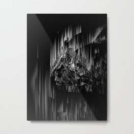 Night of the Glitches - Abstract Pixel Art Metal Print