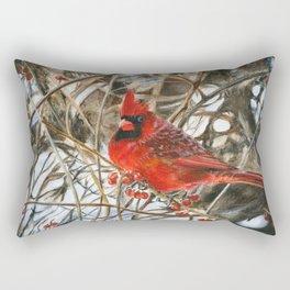 Winter Cardinal by Teresa Thompson Rectangular Pillow