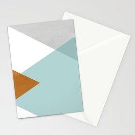 Geometrics - aqua & orange concrete Stationery Cards