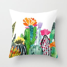 A Prickly Bunch Throw Pillow