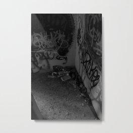 Urban graffiti Miami Abandoned Marina Stadium in Key Biscayne Metal Print