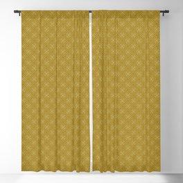Decoish- White on Mustard - Set 1 Blackout Curtain