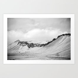 Monochrome mountain... Art Print