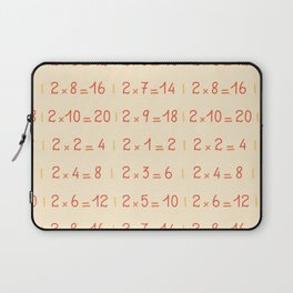 Two Times Table Pattern Laptop Sleeve