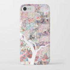 Washington map flowers iPhone 7 Slim Case