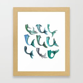 Mermaid Tails Framed Art Print