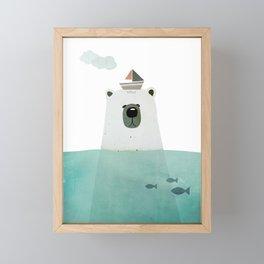 Polar bear Framed Mini Art Print