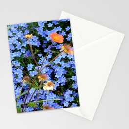 Blue, Orange, and Green Stationery Cards