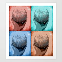 globe Art Prints featuring Globe by Aloke Design