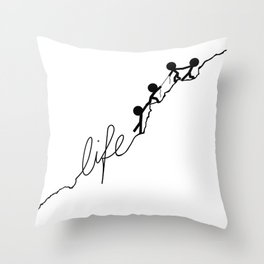With a little help Throw Pillow
