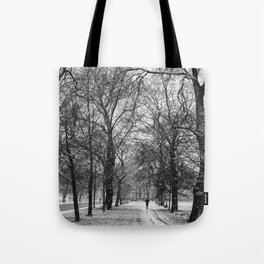 Winter jog Tote Bag