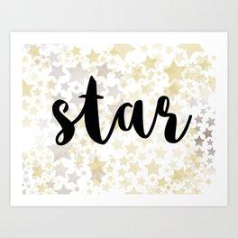 Golden Stars Art Print