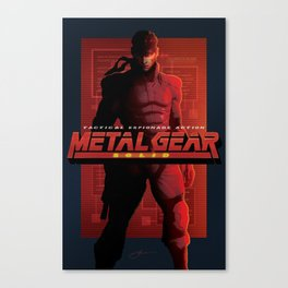 """Metal Gear Solid """"Alert Phase"""" Poster Canvas Print"""