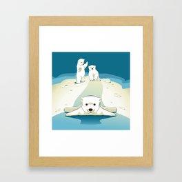 Polar bear cubs Framed Art Print