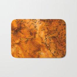 Dry Orange Black Abstract Art Bath Mat