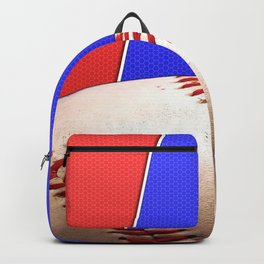 Baseball Sports on Blue and Red Backpack