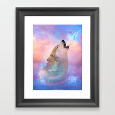 Dream By Day (Wolf Dreams - Remix Series) Framed Art Print