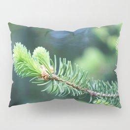 Spruce branch in spring. Pillow Sham