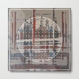 Waterlogged - dot graphic Metal Print