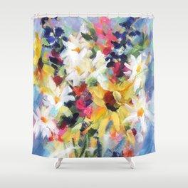 Summer Sunflower Bouquet Shower Curtain