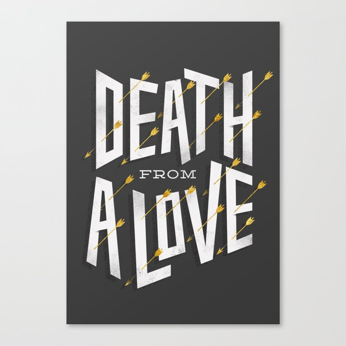 Death from a love Canvas Print