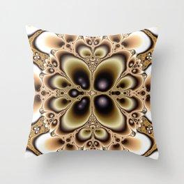 Harmonic Sand Fractal Art Print Throw Pillow