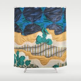 Deserted Stormscape Shower Curtain