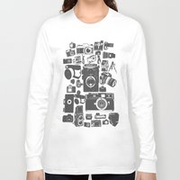 cameras Long Sleeve T-shirts featuring Cameras by Ewan Arnolda