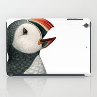 puffin iPad Cases featuring Atlantic Puffin by Jada Fitch