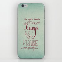 lungs iPhone & iPod Skins featuring LUNGS by Lex Bleile