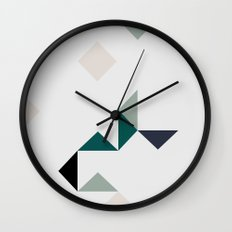 Triangle Marble Wall Clock