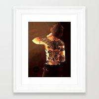 hiccup Framed Art Prints featuring Tattooed Hiccup by Vagalumie