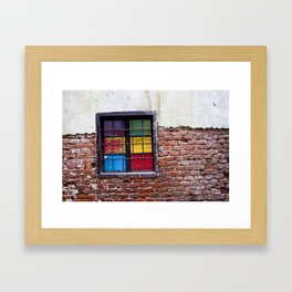 Window of Many Colors Framed Art Print