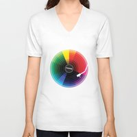 sound V-neck T-shirts featuring Pantune - The Color of Sound by Davies Babies