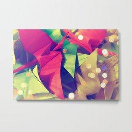 Senbazuru | pink and green Metal Print
