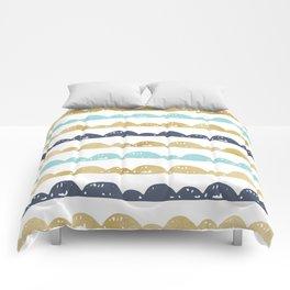 Golden Pastel Clouds Comforters