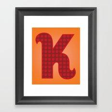 Alphabet K Framed Art Print