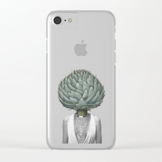 artichoke head Clear iPhone Case