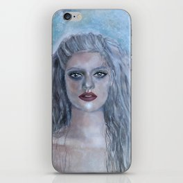 Portrait of a French Mermaid iPhone Skin