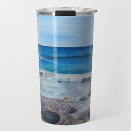 Hampton Beach Painting Travel Mug